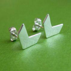 Chevron Post Earrings