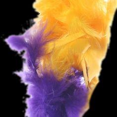 "Purple Green Yellow 70 Gm 72/"" 6 Ft Mardi Gras Colors Chandelle Feather Boa"
