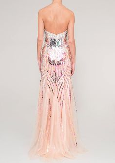 ALANIS - pink sequin dress