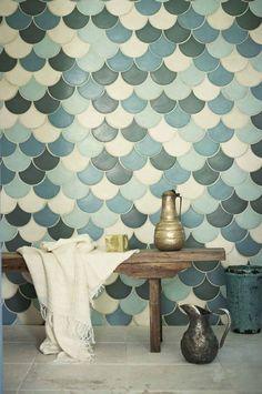Amei as cores e como ficou o padrão destes azulejos!