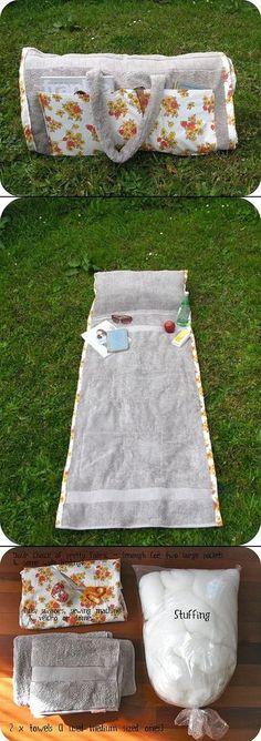 2 in 1: beach bag & towel (with tutorial)