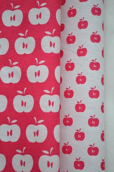 APPLES hand printed fabric quarter