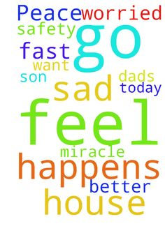 Peace and safety -  Please pray that my son feels better fast or that a miracle happens and he doesn't have to go to his dad's house today he doesn't want to go and I feel so sad and worried about him  Posted at: https://prayerrequest.com/t/dMo #pray #prayer #request #prayerrequest