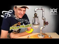 DIY Steampunk Lamp Plays Music! | ART & PROPS | [Sponsored] - YouTube