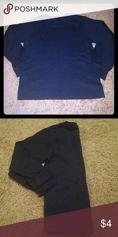 Boys Black Fruit of the Loom Long sleeve shirt Black boys casual shirt Fruit of the Loom Shirts & Tops Tees - Long Sleeve