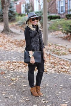 Mizzou Style… - My WordPress Website Cold Weather Outfits, Fall Winter Outfits, Autumn Winter Fashion, Fur Vest Outfits, Cute Outfits, Trendy Outfits, Girly Outfits, Beautiful Outfits, Fashion Outfits