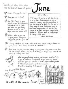 June Journaling Ideas... also more ideas for mini-journals, especially for children. I'd re-pin all of these in a homeschooling board if I had one. Perhaps I'll tackle that later. :)