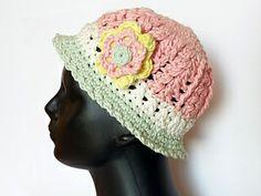"Girls and Ladies Hat ""Vario"" Crochet Pattern on Ravelry"