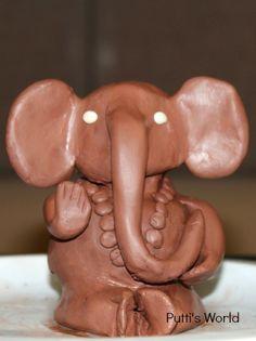 DIY Clay Ganesha For Kids Holiday Crafts For Kids, Diy Crafts For Kids, Fun Crafts, Craft Ideas, Diy Projects To Try, Projects For Kids, Clay Ganesha, Decoration For Ganpati, Art Cart