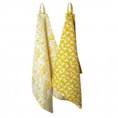 City Tea Towel Yellow