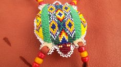 Beaded Turtle Amulet Native American Made by NativDesigns on Etsy