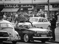 Gamla Göteborg Retro 1, Stockholm, Gothenburg, Vw Beetles, Old Photos, Dream Cars, Black And White, Gallery, Photography