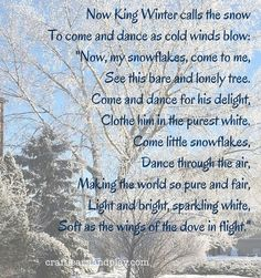 Winter Waldorf Verses | Craft Learn and Play