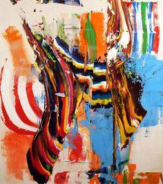 Pat Barrett builds amazing paintings