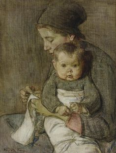 Mother and Baby, Elizabeth Nourse. American (1860 - 1938)