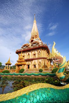Chalong Temple, Phuket - Thailand: It is situated in Phuket Town, the way to Rawai Beach. It is nice to see Thai people make worship.