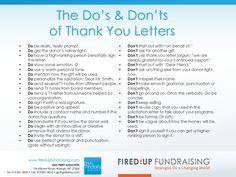 Fundraising Thank You Letter  Thank You Letters To Your Donors