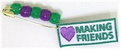 Girl Scout Making Friends SWAP. Easy and fun SWAP for your girls to learn their value of a friendship! For complete kit go to MakingFriends.com