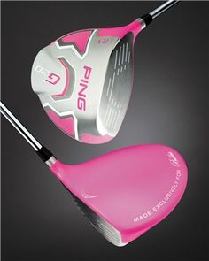 """Bubba Long in Pink. Driven by PING."" Pro-golfer Bubba Watson likes the color pink. He has had six-figure cars,   accented with the color, used a pink-shafted driver for years...He convinced Ping to make him a pink-headed G20 driver, which he will be using the rest of 2012! He's raising money for charity with every 300+ yard drive this year."