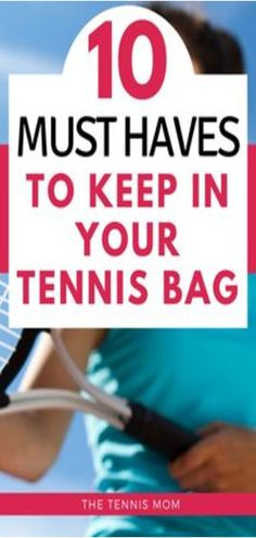 There are a few things that you will want to have in your tennis bag for matches, practice, or tennis tournaments. Make sure that you are prepared to play your best and have everything you need from snacks to shoes in your tennis bag. Tennis Bags, Tennis Gear, How To Play Tennis, Tennis Funny, Tennis Accessories, Tennis Equipment, Tennis Tournaments, Tennis Players Female, Tennis Quotes