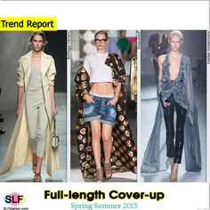 Full-length Cover-up Style Trend for Spring Summer 2015. Bottega Veneta, Dsquared², and Haider Ackermann #Spring2015 #SS15