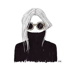 Image result for hiding behind sunglass drawing