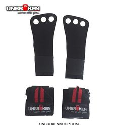 Crossfit Palm protector leather Grip with wrist wrap combo