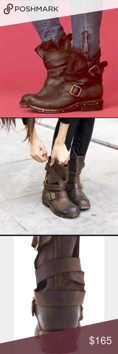Jeffrey Campbell Brit wrap strap moto boot Jeffrey Campbell Brit wrap strap moto ankle bootie perfect condition seriously amazing just a bit small on me LOVE LOVE Jeffrey Campbell Shoes Combat & Moto Boots