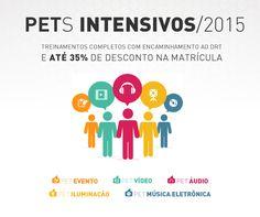 Arte de divulgação dos PETs Intensivos - 2015