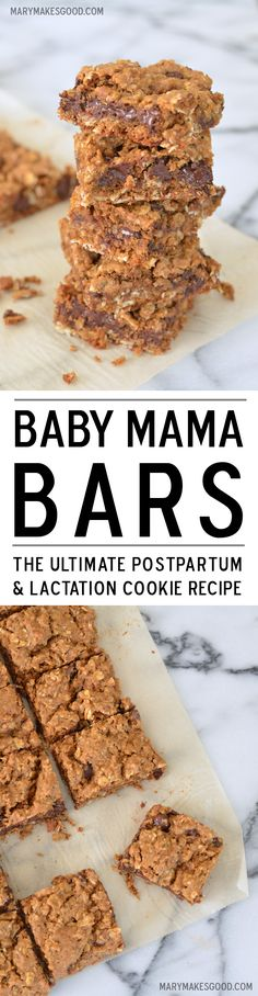 Baby Mama Bars: The Ultimate Postpartum & Lactation Cookie Recipe (& BIG NEWS FROM MARY HELEN) (Mary Makes Good)