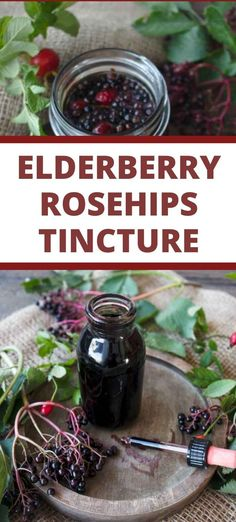 Made by macerating elderberries and rosehips in alcohol, this Elderberry tincture is made to boost your immune system and protect the body against cold and flu. Enriched with rosehips for an additional boost of vitamin C. Herbal Remedies, Home Remedies, Natural Remedies, Healing Herbs, Herbalism, Berries, Vegan Recipes Plant Based, Alcohol, Bathing Beauties