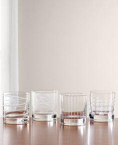 Mikasa Clear Cheers Double Old Fashioned Glasses, Set Of 4 - Glassware - Dining & Entertaining - Macy's