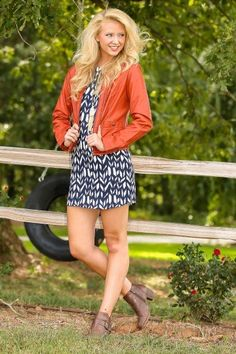 First Day Of Fall Jacket-Pumpkin Spice From The Red Dress Boutique