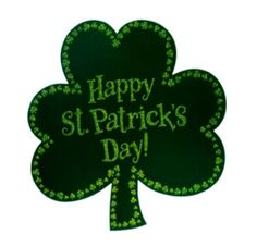 """Happy St. Patrick's Day Clover, Edible Image Cupcake Toppers, Set of 12, Round 2"""""""