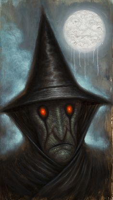 """Chet Zar has created a series of paintings inspired by his love of Halloween and """"All Hallows' Eve""""."""