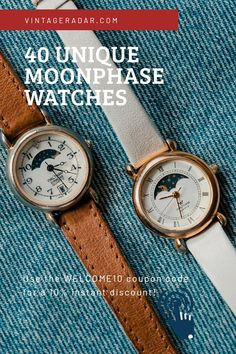 Moon Phases, Sun Moon, Stars And Moon, Moonphase Watch, Moon Watch, Vintage Moon, Fossil Watches, Watch Sale, Vintage Watches