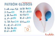Best 10 globos amigurumi by krololó – Crochet Baby Toys, Crochet Amigurumi, Amigurumi Patterns, Amigurumi Doll, Diy Crochet, Crochet Square Patterns, Crochet Doll Pattern, Crochet Dolls, Knit Basket