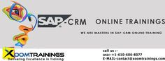 Xoom Training Classes gives SAP CRM On the internet Training Classes by awesome experienced IT experts who has all the more than 10+ Decades of continuous experience our books has great preparing information so best top quality produce will be conveyed. We enhance your information in USA, UK SINGAPORE, INDIA, and SOUTH AFRICA. Definitely our coaching will help you to be an achievements and goals.  http://www.xoomtrainings.com/sap-crm-online-training.html