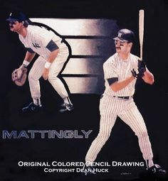 Don Mattingly drawing by Dean Huck by Dean Huck on ARTwanted