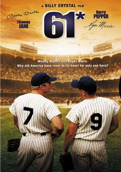 Directed by Billy Crystal. With Barry Pepper, Thomas Jane, Anthony Michael Hall, Richard Masur. Roger Maris and Mickey Mantle race to break Babe Ruth's single-season home run record. Stan Lee, Film Watch, Movies To Watch, Baseball Movies, Baseball Records, Baseball Stuff, Baseball Games, Sports Baseball, Baseball Mom