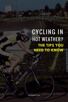 Cycling in hot weather can give you a performance boost. But there are a few tips you need to know before cycling in hot weather. Mountain Bike Accessories, Mountain Bike Shoes, Cool Bike Accessories, Mountain Biking, Cycling For Beginners, Cycling Tips, Road Cycling, Cycling Workout, Bike Workouts