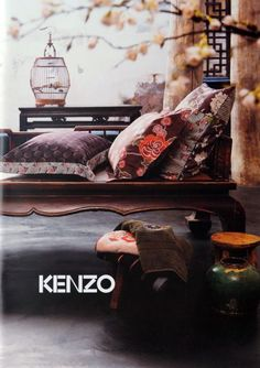 Kenzo Home - Great inspiration for my textile designs