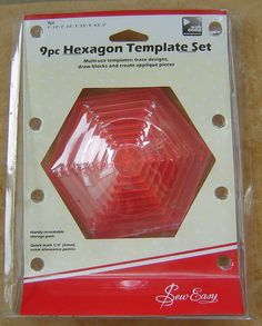HEXAGON Templates Quilt Templates Sewing Templates by DurhamDeals, $18.95