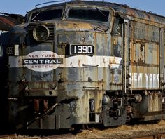 Abandoned locomotive # 1390 New York Central System