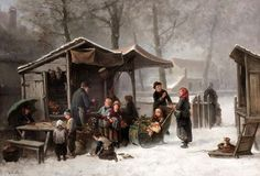Buying Presents At The Toy Stall For The Feast Of St.Nicholas, by Johan Mari Henri ten Kate.