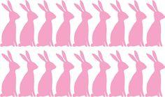 Bunny Wall Decal / Rabbit Decal / 54 Bunnies by OhongsDesignStudio