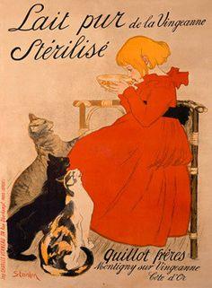 Lait Pur Sterilise Cats by Theophile-Alexandre Steinlen Fine Art Print