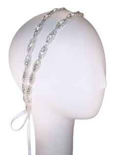 Two Strand Hanne Double Headband | Kirsten Kuehn || handmade crystal bridal sashes & embellished accessories