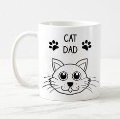 Cat dad mug, cat mug, cat owner gift, cat lover gift, crazy cat dad, cat man mug, gift for him, best cat dad, funny cat mug, cute cat mug Cat Lover Gifts, Cat Gifts, Cat Lovers, Crazy Cat Lady, Crazy Cats, Funny Cats, Mom Funny, Dad Mug, Cat Dad