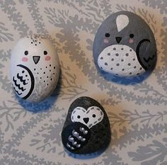 I just posted my new owl sea pebble magnets to my craft site , here are a few of my favorite ones to show you all. :-) Enjoy! Lori